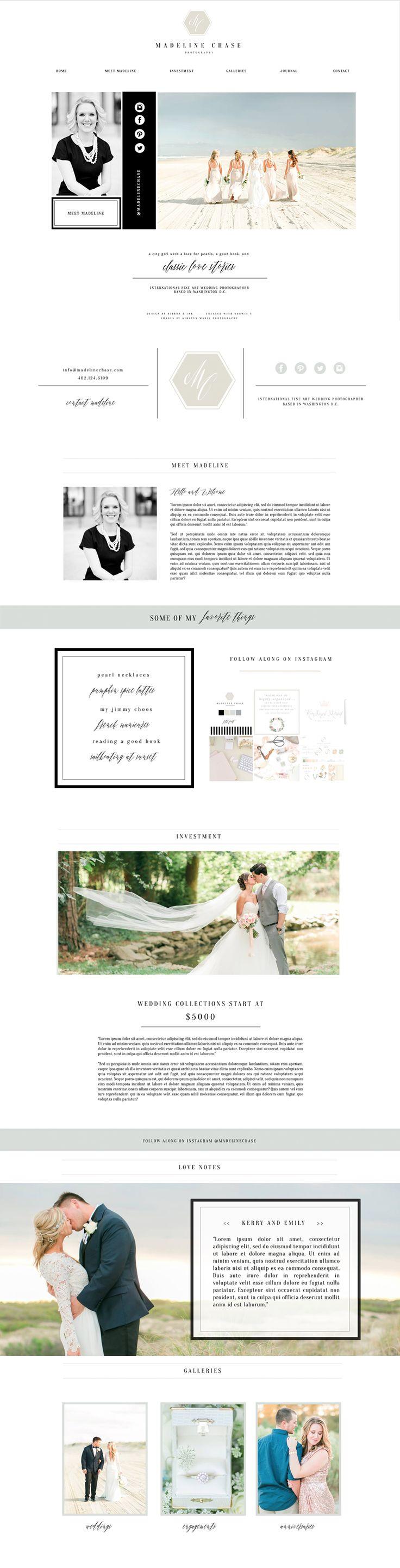 showit5-website-template-for-photographers / web design / black and blue website / glam website / bold / branding