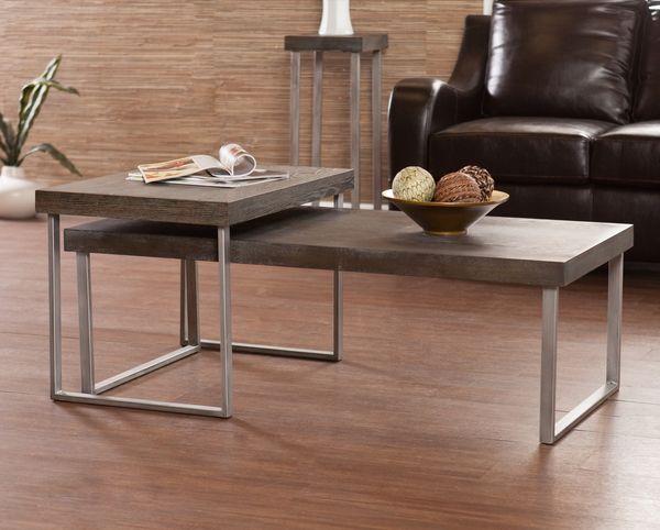Narrow Coffee Table Set