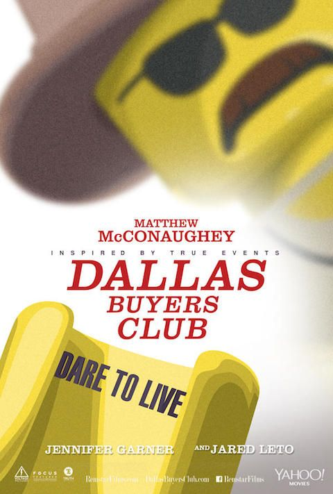 Dallas Buyers Club - Carteles de películas nominadas al Oscar 2014 recreados con LEGO