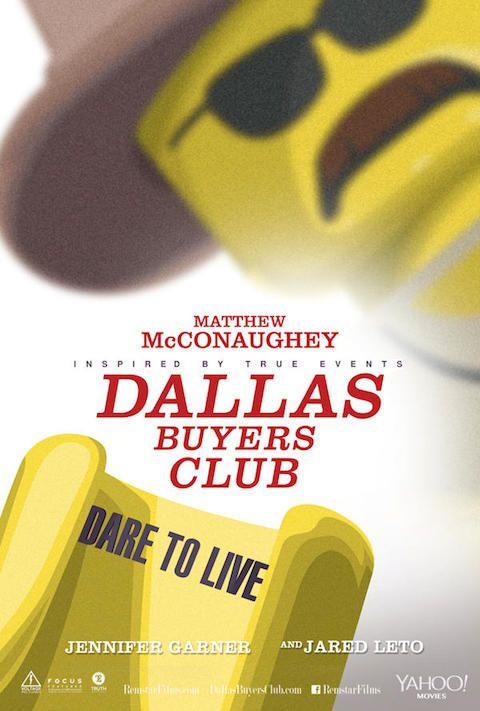 Dallas Buyers Club - Carteles de películas nominadas al Oscar 2014 recreados con LEGO