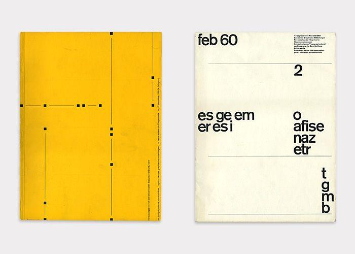 No. 1, November, 1962, Cover Design – Attributed to Heinz Waibl (b. 1931) No. 2, June 1963, Cover Design – Bob Noorda (1927–2010)