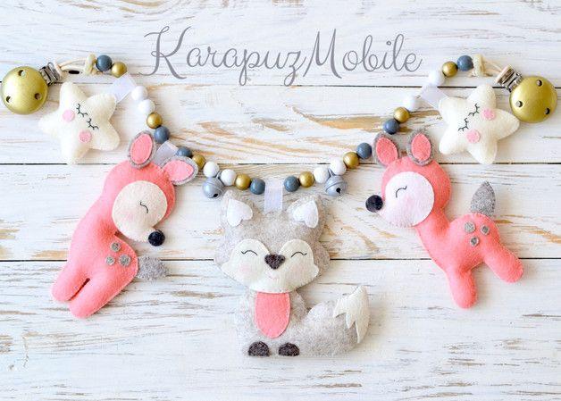 Kinderwagenketten - Kinderwagenkette aus 100% Wollfilz - ein Designerstück von KarapuzBoutique bei DaWanda