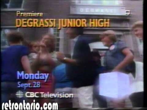 CBC Degrassi Jr High Series premiere January 1987