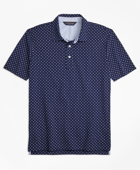 Our cotton floral-print polo is perfect when you want something different from your solid pique but don't want a statement piece. The subtle pattern is easy to wear with what's already in your closet, and the vintage stripe pattern under the collar offers tasteful color detail. Machine wash. Imported. Also available in Slim Fit.