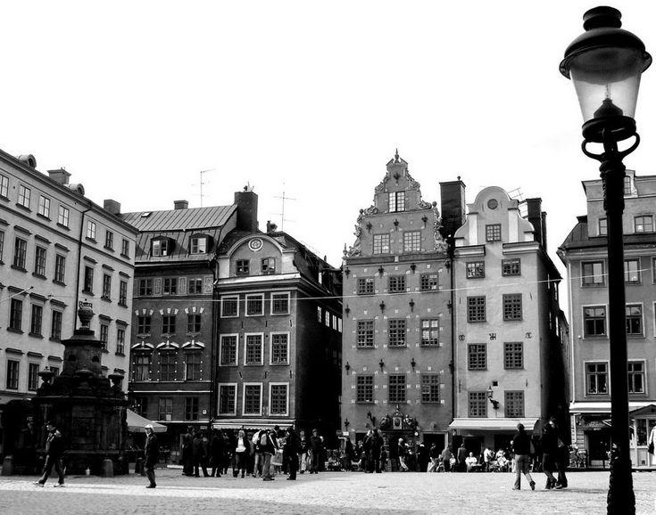 Стокгольм черно-белый и в цвете (Стокгольм, Швеция)