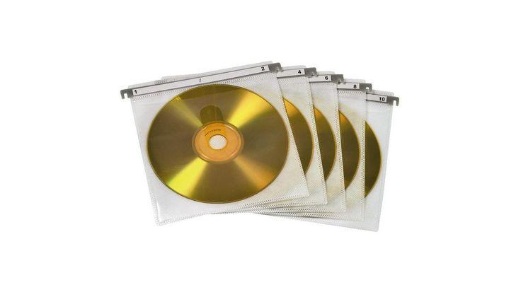 CD/DVD Doppel-Schutzhüllen, 50er-Pack, Weiß
