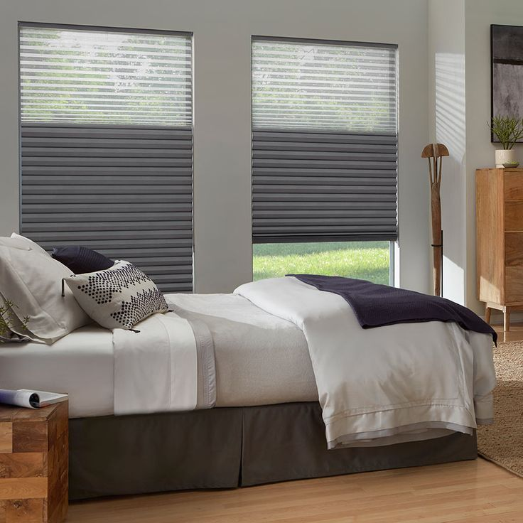 "Premier 2"" Blackout Cellular Shades are available in the popular top down bottom up lift style, you will have the option to lower them from the top, allowing you to maintain privacy, while letting the natural light to come in.   www.SelectBlinds.com"