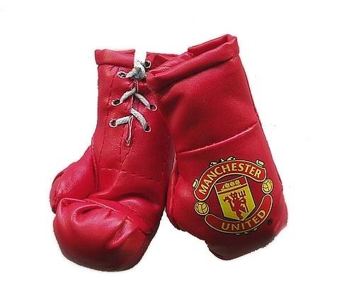 Manchester United Mini Car hanging Boxing Gloves