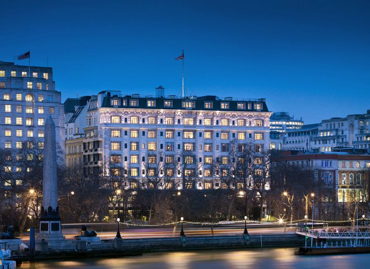 The Savoy London, United Kingdom Architecture Buildings City Luxury Resort sky water metropolitan area scene cityscape landmark night skyline marina dock metropolis River Harbor evening Downtown skyscraper tower block dusk waterway panorama distance