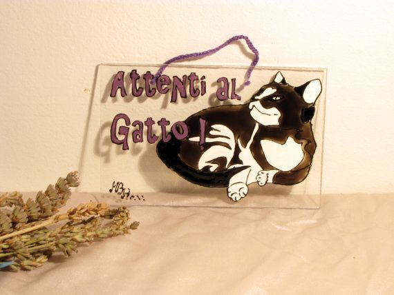 Bewere The CAT  plexiglass plate cut and by RowenaGlassCreations