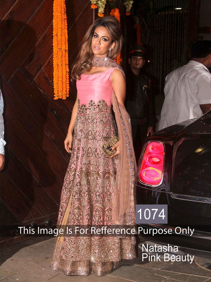 Bollywood Gown Dress Suit Indian Pink Color Pakistani Designer Party Wear Latest #WearVilla #Ethnic #Festive