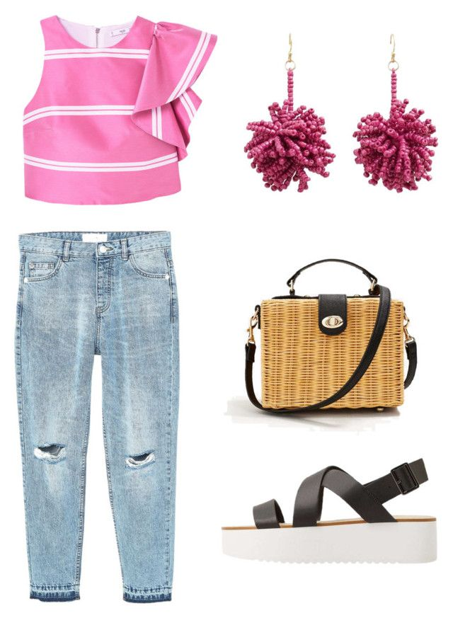 """pink*"" by aboutmetheblog on Polyvore featuring MANGO"