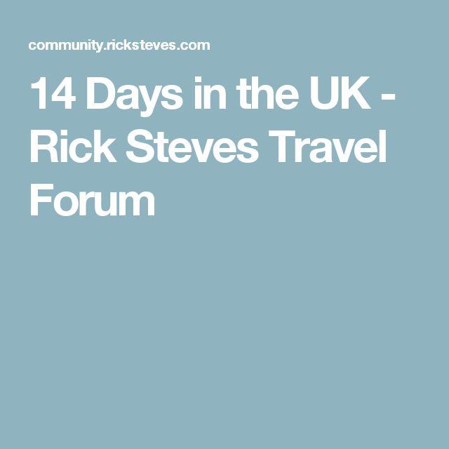 14 Days in the UK - Rick Steves Travel Forum