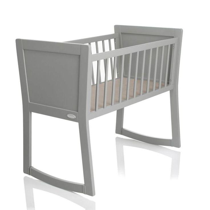 Baby Sleeping Crib Grey Wooden Nursery Children Infant Toddler Pull Turn Curved #BabySleepingCrib #Crib