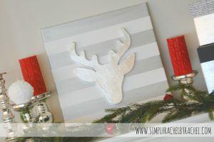 Paper Mache Deer head and Silver Metal Leaf tutorial!