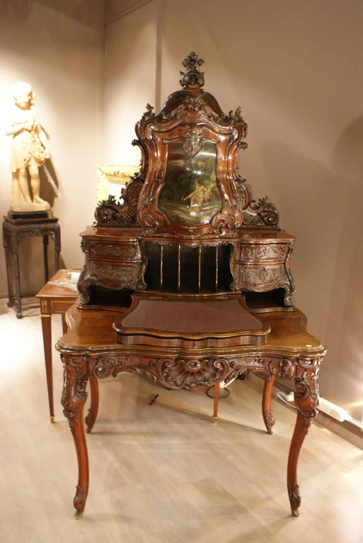 bureau louis xv ch teau de versailles meubles anciens. Black Bedroom Furniture Sets. Home Design Ideas