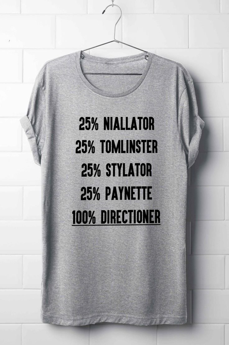 One Direction T-Shirt, Niall Horan, Liam Payne, Harry Styles, Louis Tomlinson, 100% Directioner T-Shirt, Boy Band T-Shirt's by 13SameOnly on Etsy