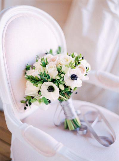 Anemone and roses: http://www.stylemepretty.com/little-black-book-blog/2015/03/24/organic-elegant-paris-wedding-inspiration/ | Photography: Le Secret D'Audrey - http://www.lesecretdaudrey.com/