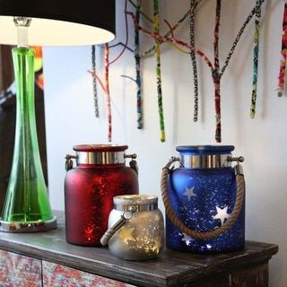 River of Goods Blue  White  and Red Mercury Glass 4 75 inch Small Star Jar  with Battery operated Lights by River of Goods. 17  best ideas about Home Goods Online Store on Pinterest   Food