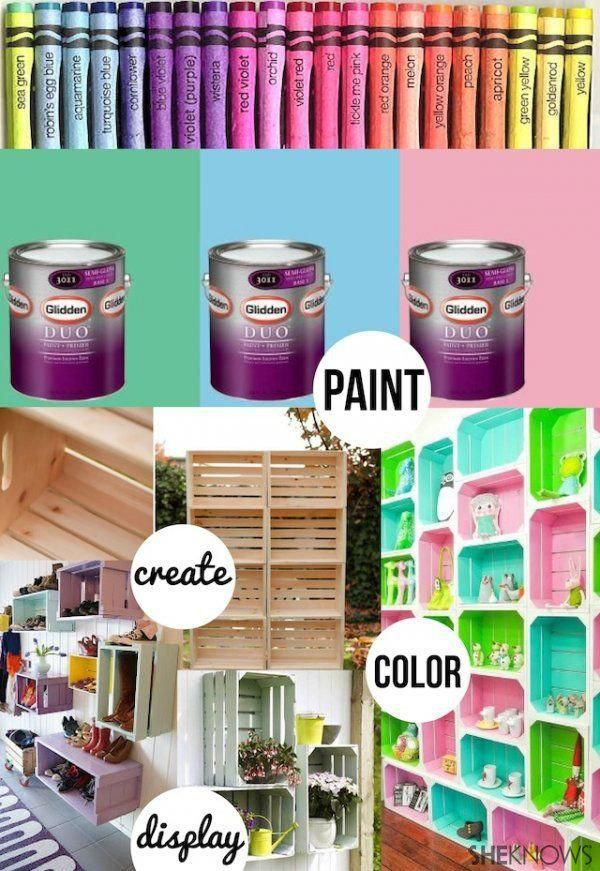 Diy Wood Crate Toy Storage House Pinterest Toys
