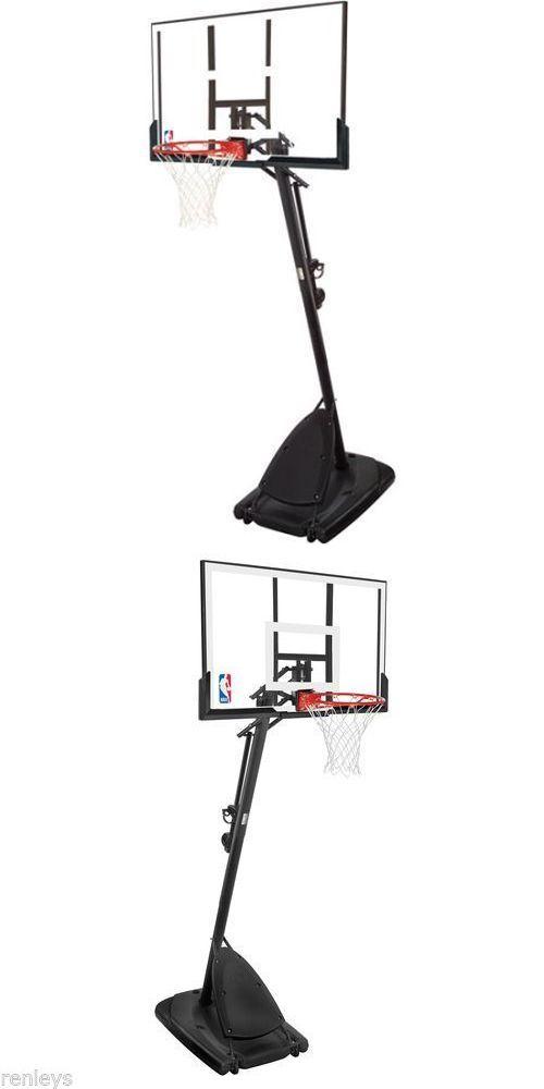Backboard Systems 21196: Spalding 54 Portable Basketball System Adjustable Hoop Backboard Net Pole 66291 BUY IT NOW ONLY: $221.48