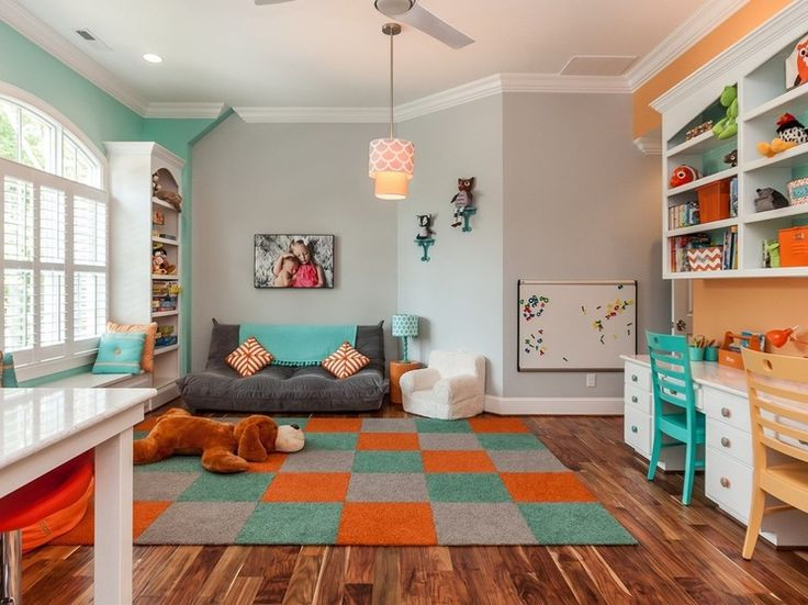 exciting blue orange bedroom ideas | paint by Sherwin-Williams: Exciting Orange SW6647 (wall ...