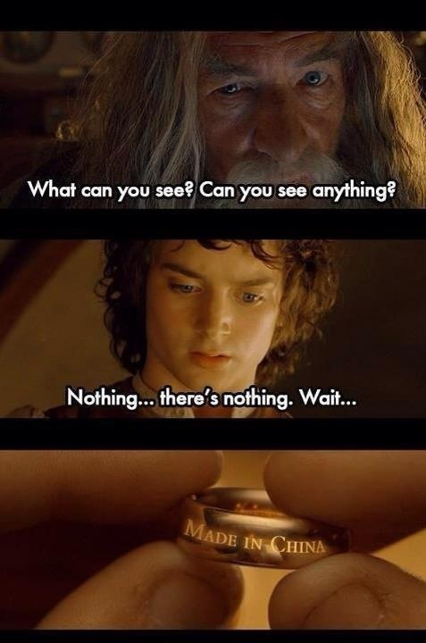 Haha funnies from lord of the rings