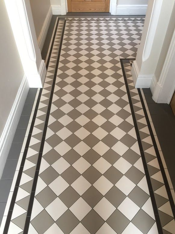 Entrance hall floor tiles