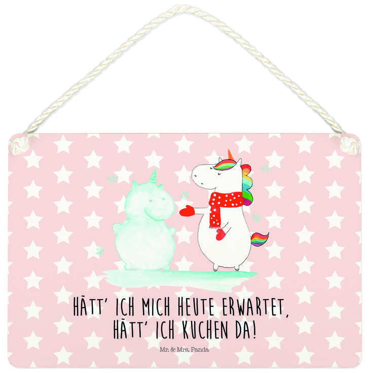 Deko Schild Einhorn Schneemann aus MDF  Weiß - Das Original von Mr. & Mrs. Panda.  Ein wunderschönes Schild aus der Manufaktur von Mr. & Mrs. Panda - die Schilder werden von uns direkt nach der Bestellung liebevoll bedruckt und mit einer wunderschönen Kordel zum Aufhängen versehen.    Über unser Motiv Einhorn Schneemann  Das Winter-Einhorn macht richtig Lust auf den ersten Schnee. Schon mal probiert, sich ein Ebenbild aus Schnee zu bauen? Dann wird es aber Zeit. Aber nicht den Kuchen für den…