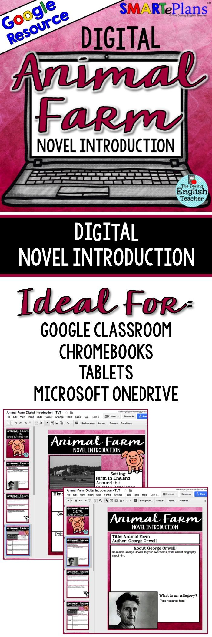 best ideas about animal farm novel animal farm digital animal farm novel introduction for google drive smarteplans google classroom blended learning