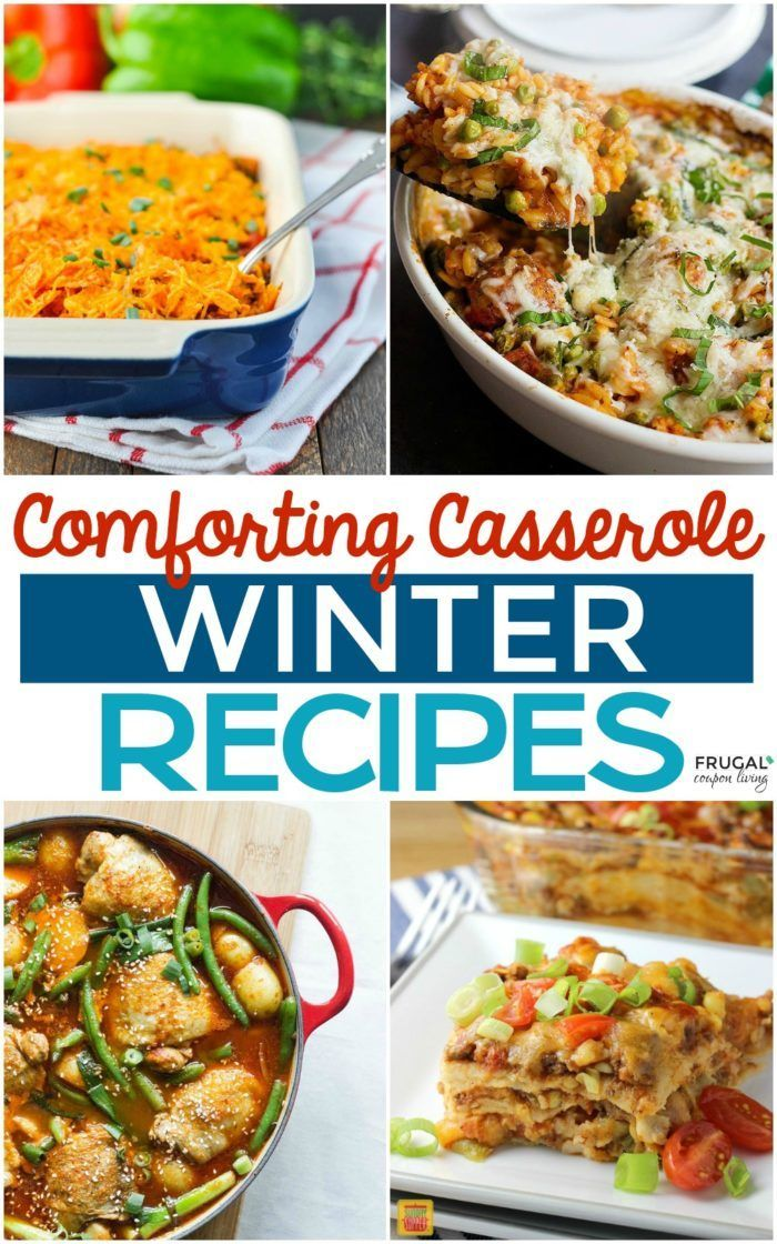 Comforting Casserole Winter Meals on Frugal Coupon Living. Easy, warming, and wi...