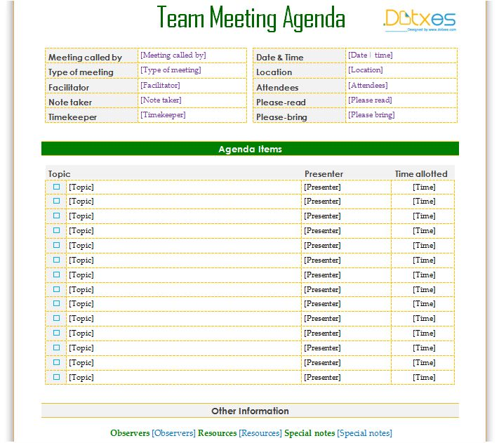 17 Best images about Agenda Templates Dotxes – How to Create a Agenda