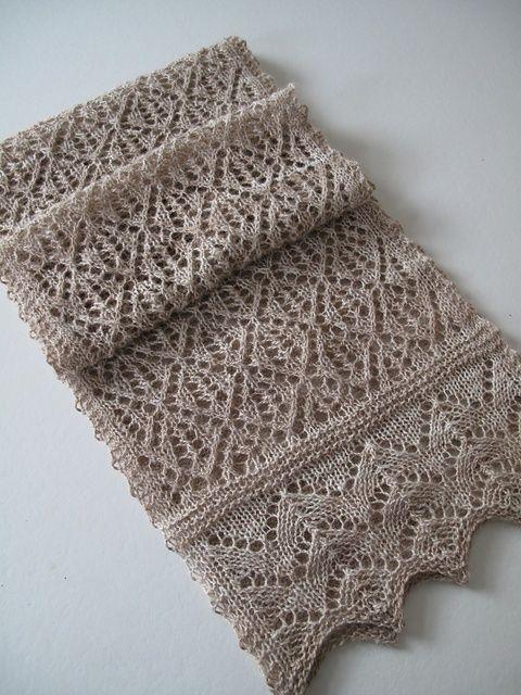 Kernel lace scarf pattern.
