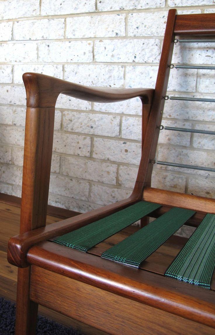 Parker Furniture. Mid Century Danish. Restored three seater lounge with original foam and fabric
