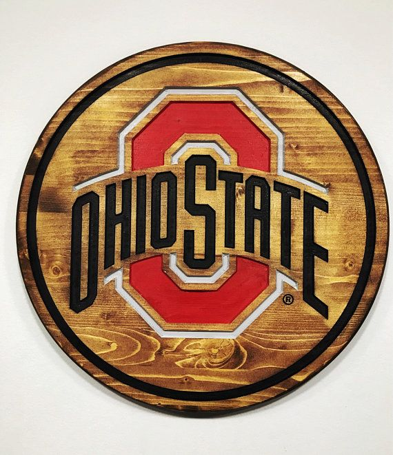 Ohio State Buckeyes Wall Decor Perfect For The Game Room Etsy
