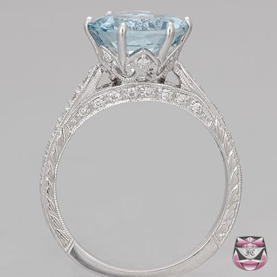 Vintage sapphire engagement ring. also GORGEOUS!!! man they look like crowns