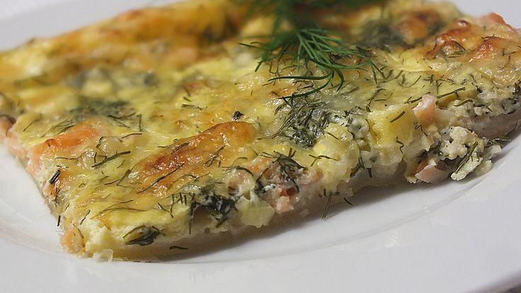 Schwedischer Lachskuchen  'Schwedenpizza', ein tolles Rezept aus der Kategorie Tarte/Quiche. Bewertungen: 286. Durchschnitt: Ø 4,5.