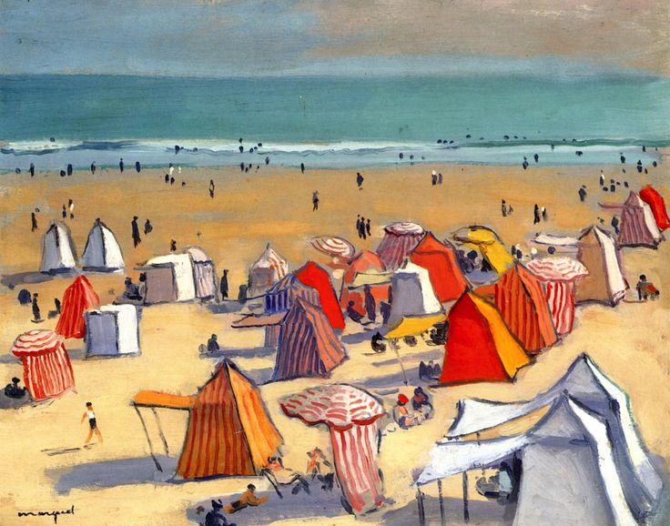 The Sandy Beach at OlonneAlbert Marquet - circa 1938