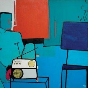 Sabina Twardowska, 'Pink panther', 90x90 cm, oil on canvas, 2013
