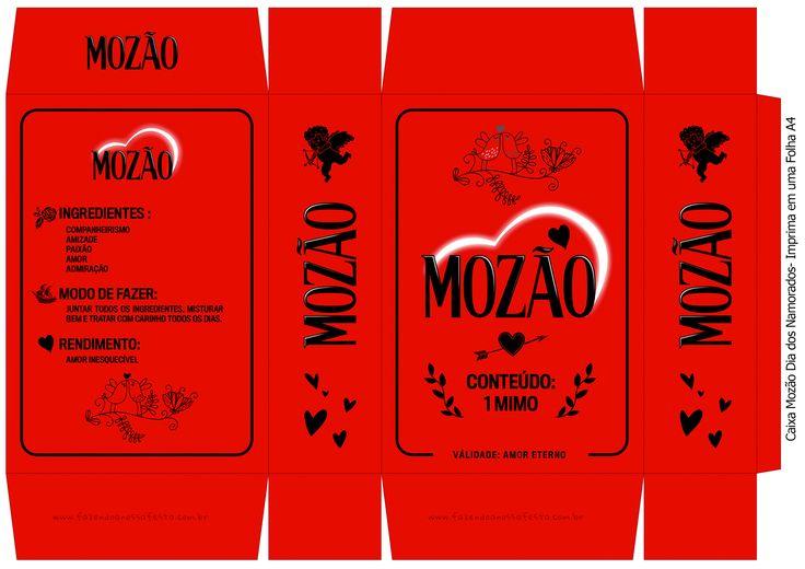 Caixa A4 Mozão Vermelho