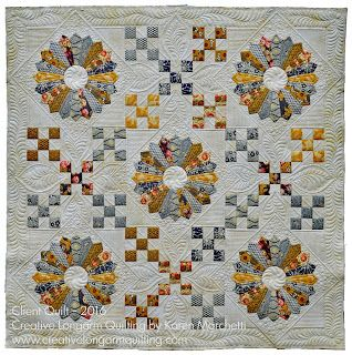 Creative Longarm Quilting by Karen Marchetti: Diane's 9-Patch/Dresden Quilt