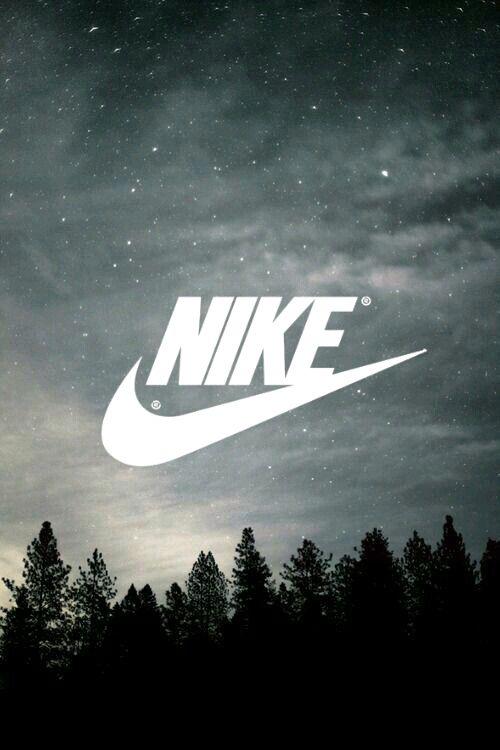 Nike // Fond d'ecran // Iphone Wallpaper // Tendance // just do it Foret  nuit sombre etoiles