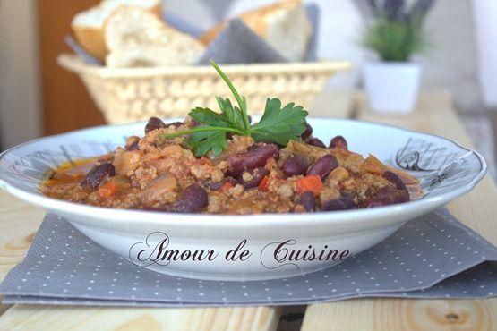 chili con carne recette facile a la viande hachée