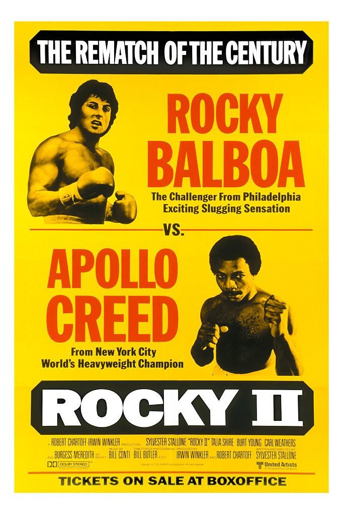 ROCKY II // Amer. sports drama by Sylvester Stallone, 1979.