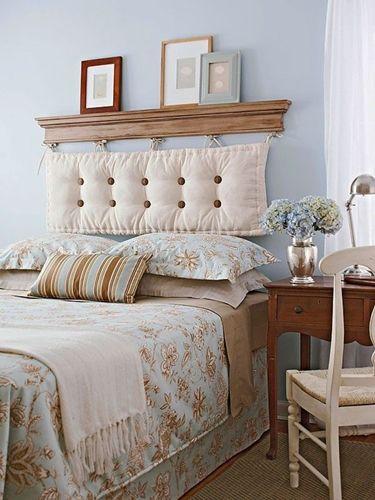Testiera letto imbottita con unico cuscino