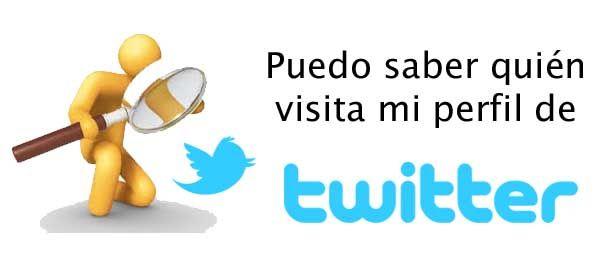 ¿Es posible saber quién visita mi perfil de Twitter?