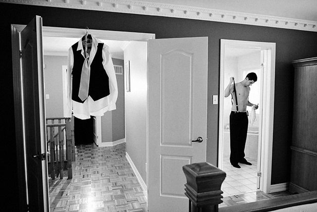Must have wedding photo number 5. Groom getting ready.