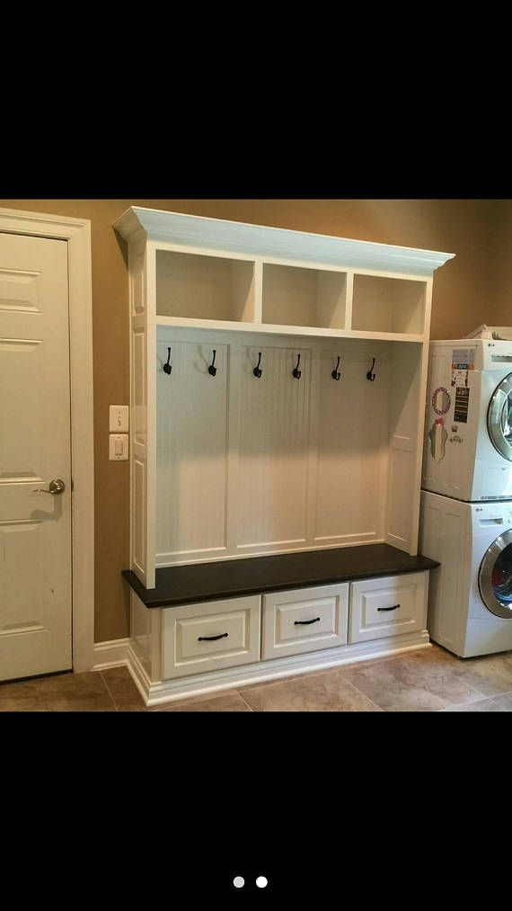 This Handcrafted Mudroom Locker Is Painted With A Stained Solid Maple Seat Built And Poplar Hardwood Plywood It Features 3