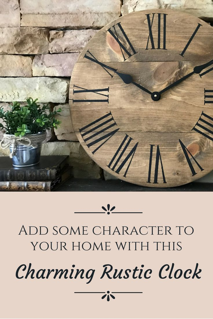 Best 25 natural clocks ideas on pinterest natural wall clocks 18 natural clock farmhouse clock home decor rustic wall clock wall amipublicfo Image collections