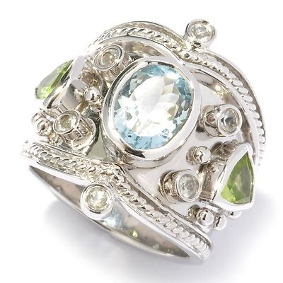 Shop Nbc Dallas Prince Designs Multi Gemstone Etruscan Ring